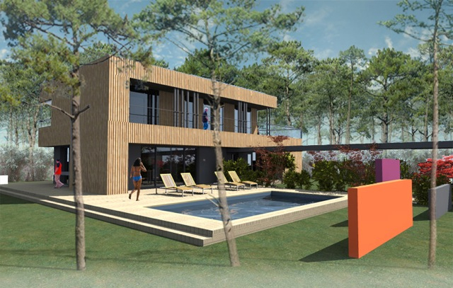 Maisons hossegor terres oc an for Architecte hossegor